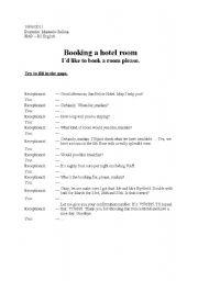 reservation of hôtel conversation