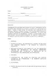English Worksheets: plan de clase