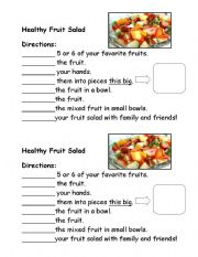 fruit salad recipe esl worksheet by greent. Black Bedroom Furniture Sets. Home Design Ideas