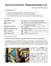 English Worksheets: Street Art in Montreal