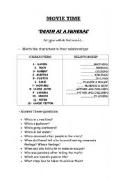 English Worksheets: Movie Time!