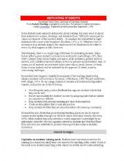 English Worksheets: motivating students