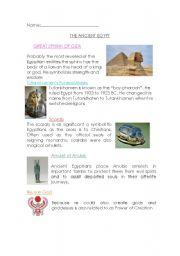 English Worksheet: Ancient Egypt gods