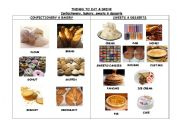 English Worksheet: THINGS TO EAT & DRINK. CONFECTIONERY, BAKERY, SWEETS & DESSERTS