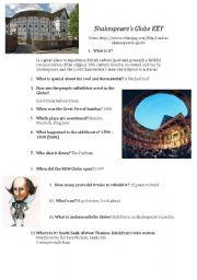 Shakespeare´s Globe video listening activity