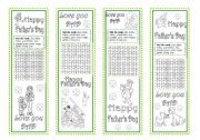 English Worksheets: Father´s Day Bookmarks
