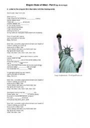 English Worksheets: Empire Sate of Mind by Alicia Keys