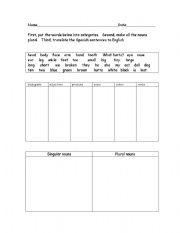 english worksheets categorizing vocabulary. Black Bedroom Furniture Sets. Home Design Ideas