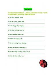 English Worksheets: sentence construction