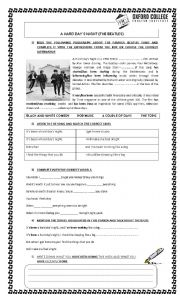 English Worksheets: A HARD DAY`S NIGHT-BEATLES