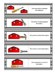 English Worksheet: Father´s Day Preposition Dominoes Re-uploaded (with Memory Cards and Simple Matching Worksheets)