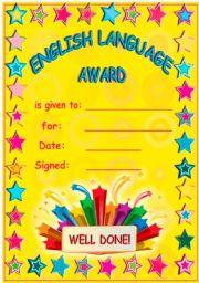 Englsh Language Award!