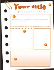English Worksheets: Template Oranges