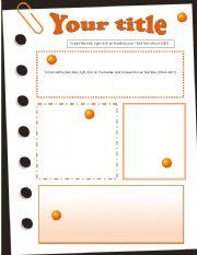 English worksheet: Template Oranges