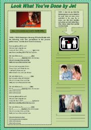 English Worksheets: PRESENT PERFECT WITH SONG ACTIVITY (FOCUS ON LISTENING & SPEAKING)