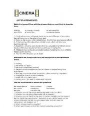 English Worksheets: Describing / Discussing a Movie