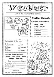 English Worksheet: Weather