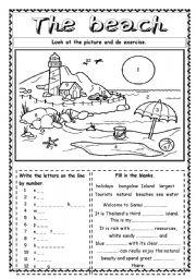 English Worksheet: The beach