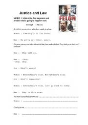 English Worksheets: Justice and law with the movie FELON