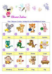 English Worksheet: The Chinese Zodiac