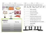 English Worksheet: Cooking verbs