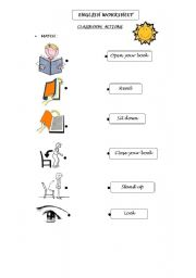 English Worksheets: CLASSROOM ACTIONS