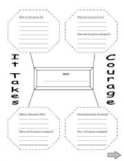 English Worksheets: It Takes Courage