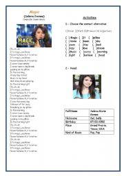 English Worksheet: Song : Magic ( Selena Gomez)