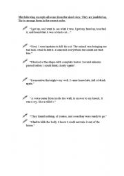 English Worksheet: The Black Cat by Edgar Allan Poe