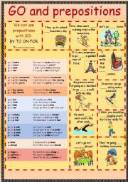 Prepositional phrases with go