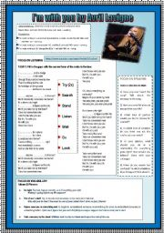 English Worksheets:  PRESENT CONTINUOUS TENSE & IDIOMS & PHRASES THROUGH SONG ACTIVITY