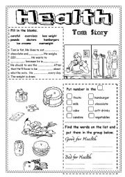 English teaching worksheets: Health