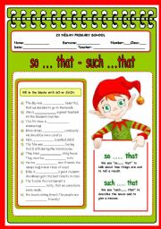 English Worksheets: so that such that