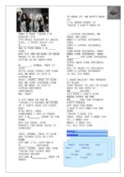 English Worksheets: song GUNS N ROSES