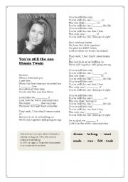 English Worksheet: Shania Twain