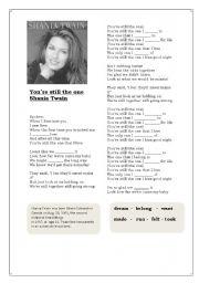 English Worksheets: Shania Twain