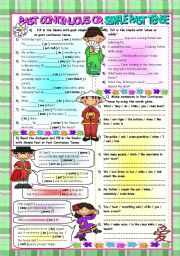 English Worksheet: Past Continuous or Simple Past Tense