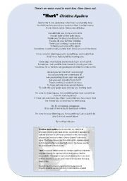 English Worksheet: Song: Hurt [Christina Aguilera]