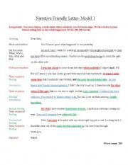 Model Descriptive Friendly Letter for IGCSE ESL