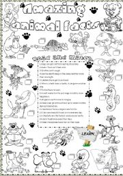English Worksheets: amazing animal facts