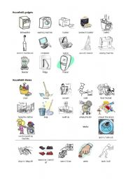 English Worksheet: HOUSEHOLD GADGETS AND HOUSEHOLD CHORES