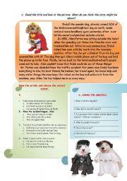 English Worksheets: READING-COMPREHENSION,