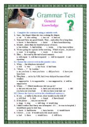 English Worksheet: Grammar Test: General Knowledge
