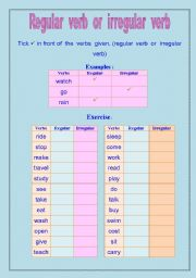 Regular verb or irregular verb
