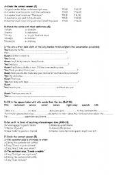 English Worksheets: mesleki ingilizce s�nav