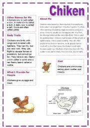 English Worksheets: ** chiken