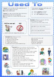 English Worksheets: Used To