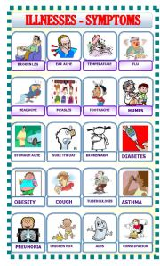 English Worksheets: Ilnesses