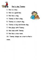 English Worksheets: Ron�s dog Tommy