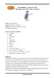 English Worksheet: Post office